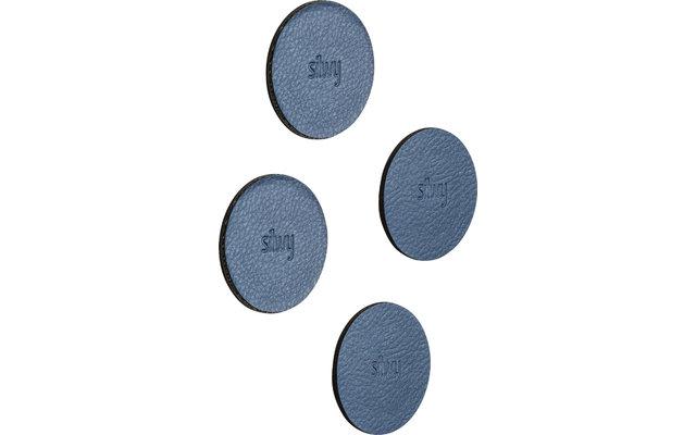 Silwy Magnet-Pads 6,5 cm 4er Set blau