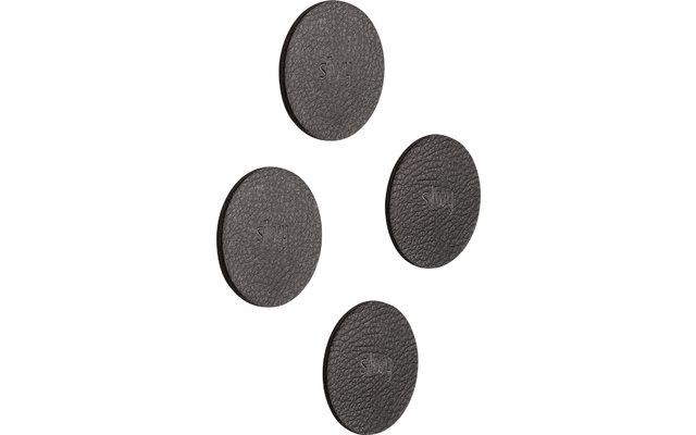 Silwy Magnet-Pads 6,5 cm 4er Set schwarz