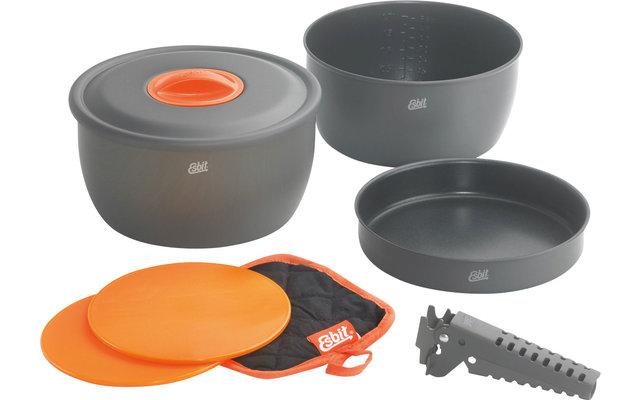 Esbit CW2500NS Aluminium Kochset inkl. Schneidbretter und Griffzange