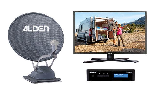Alden Onelight 60 HD EVO Platinium Vollautomatische Sat-Anlage inkl. Ultrawide LED Fernseher 18,5 Zoll