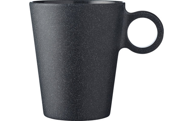 Mepal Bloom Melamin Henkelbecher 300 ml Pebble Black