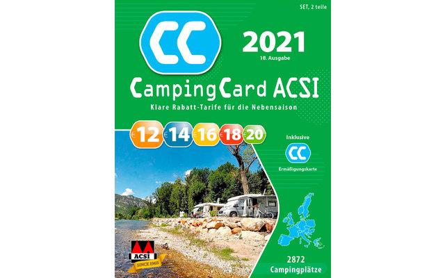 ACSI CampingCard 2021 Campingführer mit Ermäßigungskarte