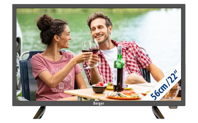 Berger Camping TV LED Fernseher mit Bluetooth 22 Zoll