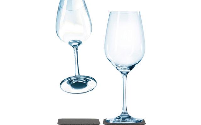 Silwy Magnet-Kristallgläser Wein mit Untersetzer 2er Set