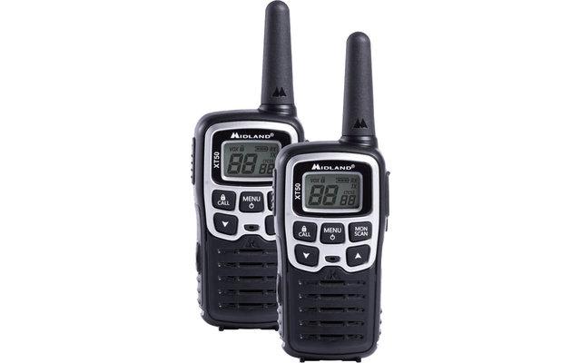 Midland XT50 PMR446 Sprechfunkgeräte inkl. Akkus und Ladegerät