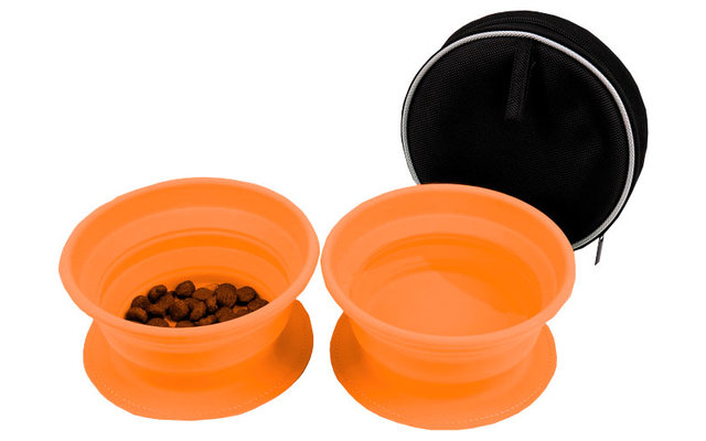 Disc-O-Bed Dog-Bowl faltbarer Silikon Futternapf Set 2 Stück