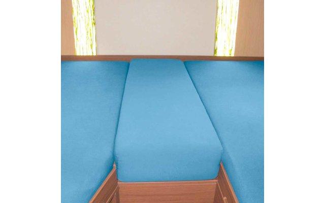 Spannbetttuch Set Heckbett 3-teilig Stahlblau