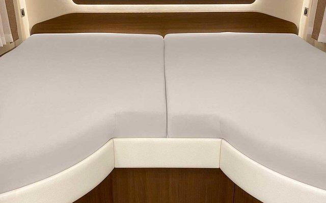 Spannbetttuch Set 2-teilig mit Einschnitt Einstieg Basalt