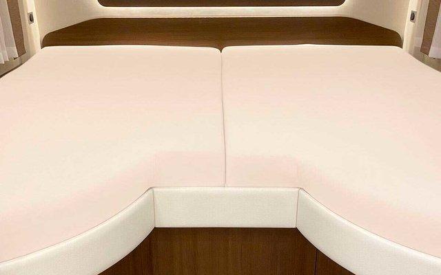 Spannbetttuch Set 2-teilig mit Einschnitt Einstieg Wollweiß