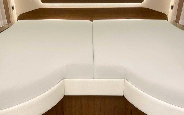 Spannbetttuch Set 2-teilig mit Einschnitt Einstieg Silber