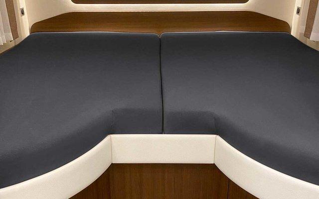 Spannbetttuch Set 2-teilig mit Einschnitt Einstieg Titanium