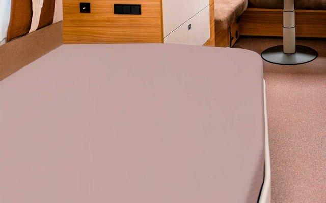 Spannbettlaken für französische Betten basalt