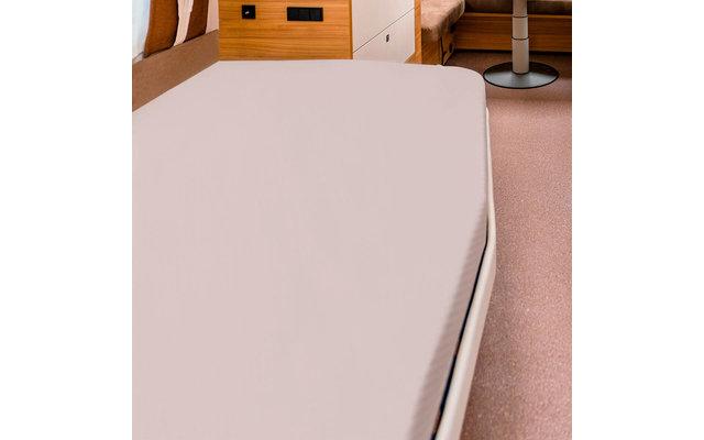 Spannbettlaken für französische Betten sand