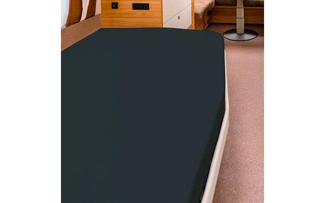 Spannbettlaken für französische Betten titanium