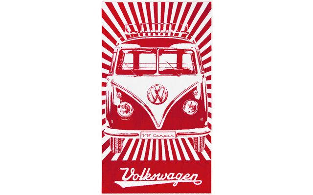 VW Collection T1 Bulli Strandtuch 160 x 90 cm Rot / Weiß