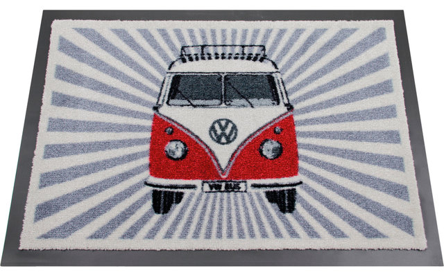 VW Collection T1 Bulli Strahlen Fußmatte Rot 70 x 50 cm
