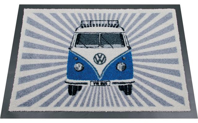 VW Collection T1 Bulli Strahlen Fußmatte Blau 70 x 50 cm